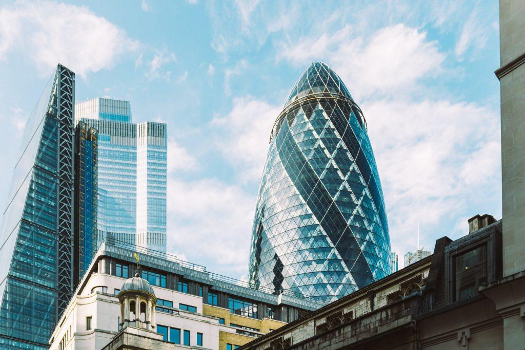 London Citys skyscrapers